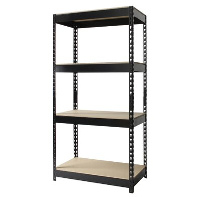 "CommClad Iron Horse Rivet 60"" H x 30"" W Four Shelf Shelving Unit"