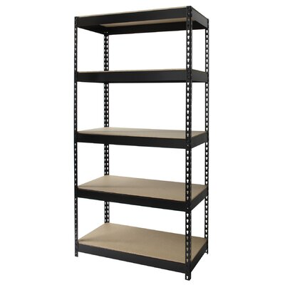 "CommClad Iron Horse Rivet 72"" H x 36"" W Five Shelf Shelving Unit"