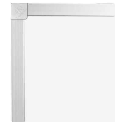 "CommClad 48"" x 48"" Thermal-Fused Melamine Whiteboard with Aluminum Trim"