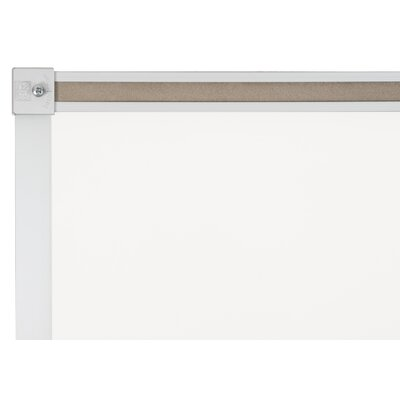 "CommClad 24"" x 36"" Thermal-Fused Melamine Whiteboard with Aluminum Trim and Map Rail"