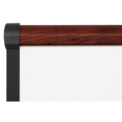 "CommClad 48"" x 72"" Thermal-Fused Melamine Dot Grid Whiteboard with Trim"