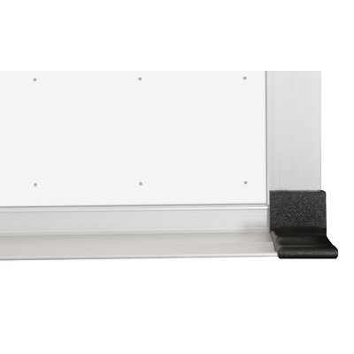 "CommClad 48"" x 48"" Thermal-Fused Melamine Dot Grid Whiteboard with Aluminum Trim and Map Rail"
