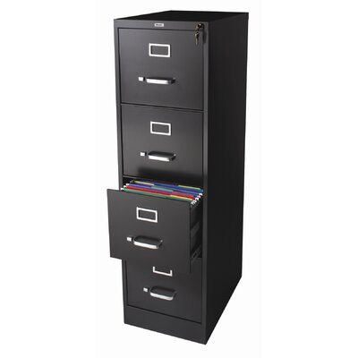 "CommClad 22"" Deep 4-Drawer Letter-Size Commercial Vertical File"