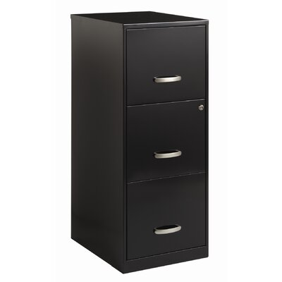 CommClad 3 Drawer Soho Vertical File in Black