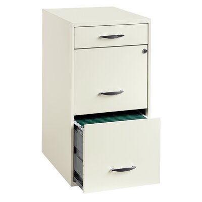 "CommClad 18"" 3-Drawer Steel File Cabinet"