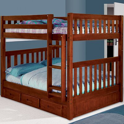 Discovery World Furniture Weston Full over Full Bunk Bed with Built-In Ladder and Optional Storage