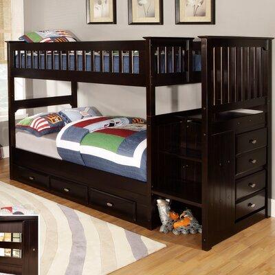 Staircase Twin Twin Bunk Bed Wayfair
