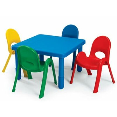Angeles Square Baseline Preschool Table and Chair Set
