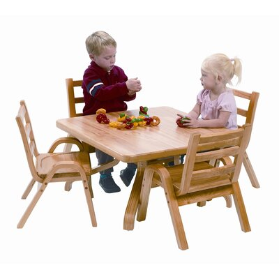 Angeles NaturalWood 12 Square Toddler Table And Chair Set