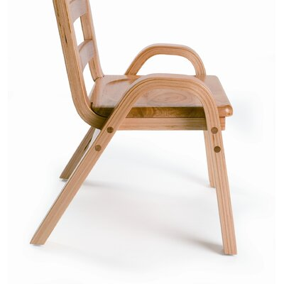 "Angeles 13"" Wood Classroom Stacking Chair"