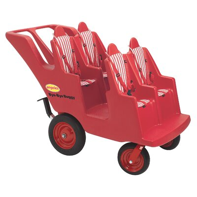 Angeles 4 Passenger Original Slim Tire Bye-Bye Buggy Tandem Stroller