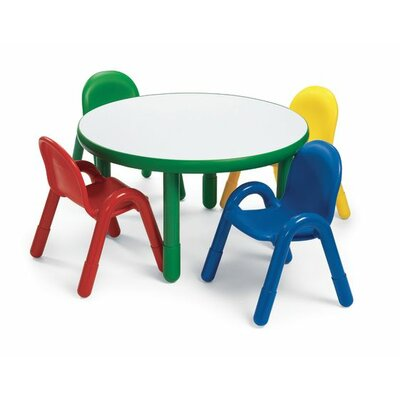 Round Baseline Preschool Table and Chair Set in Shamrock Green