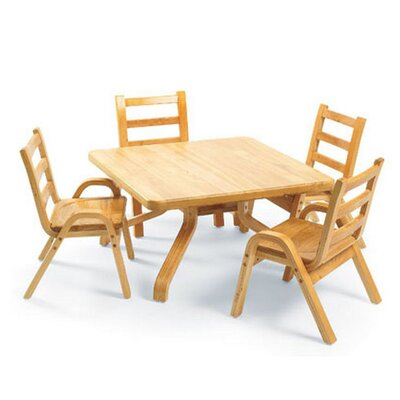 "Angeles NaturalWood 20"" Square Toddler Table and Chair Set"