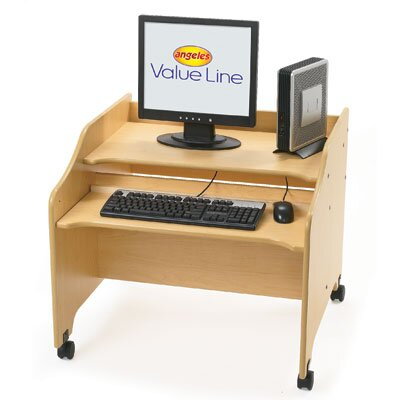"Angeles Value Line 29.25"" W x 29"" D Computer Table"