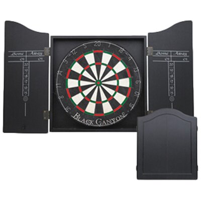 <strong>Black Canyon</strong> Dart Board Cabinet in Black