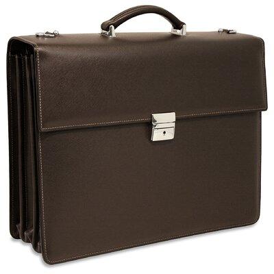 Jack Georges Prestige Triple Leather Laptop Briefcase