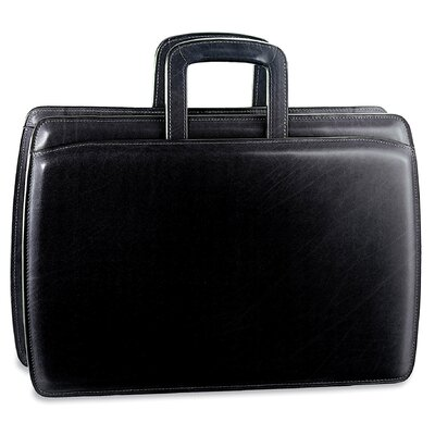 Jack Georges Elements Double Gusset Leather Briefcase