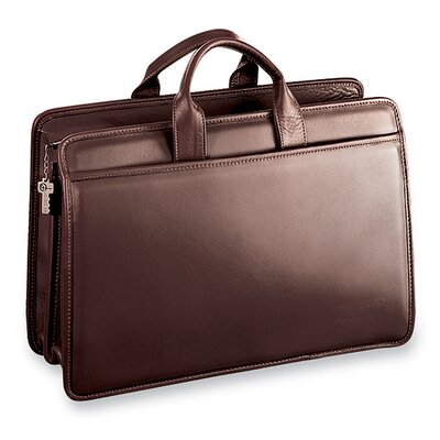 Jack Georges Platinum Double Gusset Briefcase