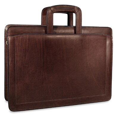 Jack Georges Belting Double Gusset Zip Top Briefcase