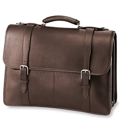 Jack Georges University sized Triple Gusset Leather Briefcase