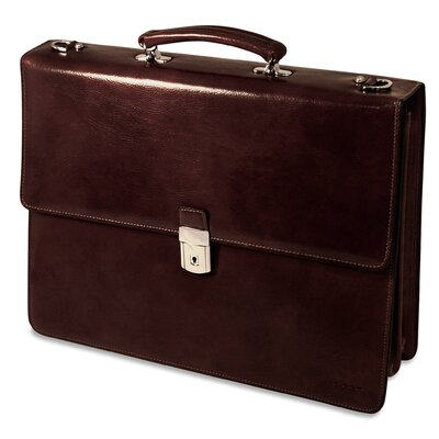 Jack Georges Sienna Double Gusset Leather Briefcase