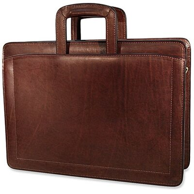 Jack Georges Belting Triple Gusset Zip Top Briefcase