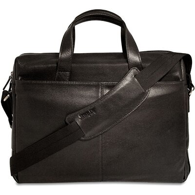 Jack Georges Soho Single Gusset Leather Laptop Briefcase