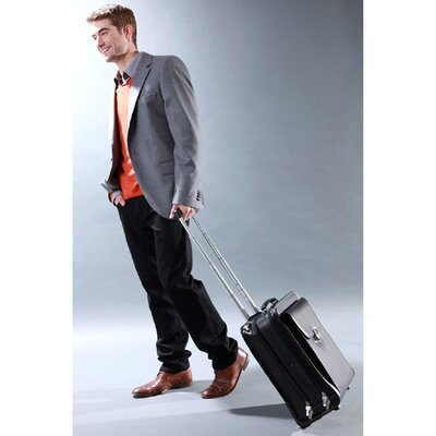 "Jack Georges Milano Vertical 14"" Laptop Rolling Carry On"