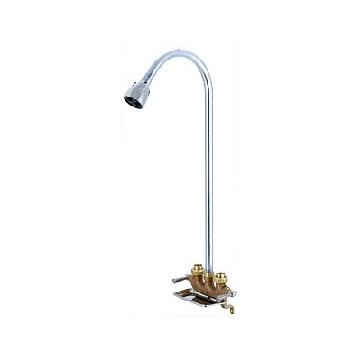 Central Brass Utility Shower Faucet With Center In Rough Brass Reviews Wayfair