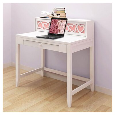 "Hearts 37.5"" W Writing Desk with Hutch"