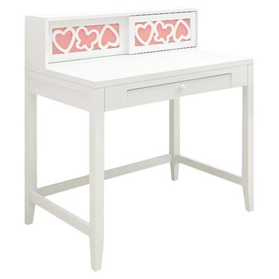 "Najarian Furniture Hearts 37.5"" W Writing Desk with Hutch"