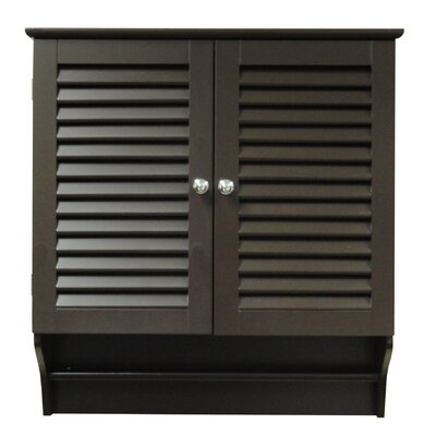 Ellsworth 2 Door Wall Cabinet with Full Towel Bar and One Inside Shelf