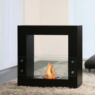 Bio-Blaze Qube Bio Ethanol Fuel Fireplace with Glass