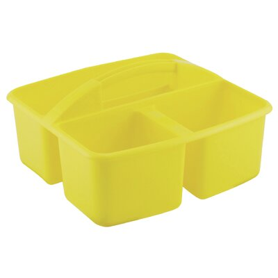 ECR4kids Three Compartment Small Plastic Art Caddy