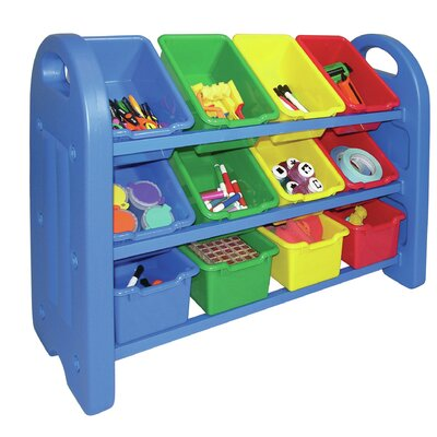 ECR4kids 3 Tier Toy Organizer 12 Compartment Cubby