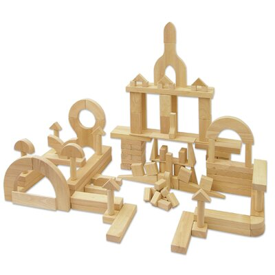 ECR4kids 118 Piece Hardwood Building Block Set