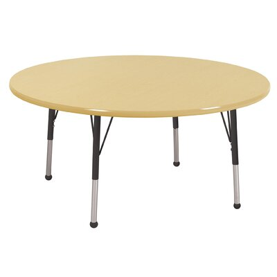 "ECR4kids 48"" Round Adjustable Activity Table in Maple"
