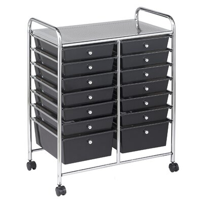 ECR4kids 14 Drawer Mobile Organizer