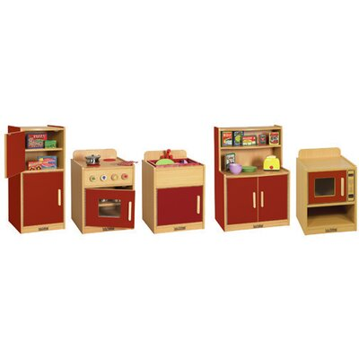 ECR4kids 5 Piece Play Kitchen Set
