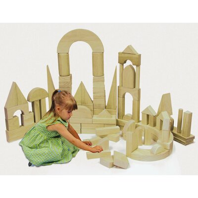 ECR4kids 75 Piece Hardwood Building Block Set