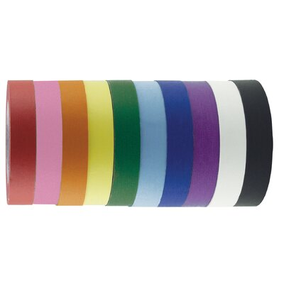 "ECR4kids 1"" x 60 Yards 12 Pack of Assorted Color Kraft Tape Rolls"