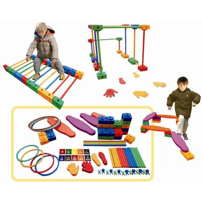 ECR4kids 114 Pieces Agility Play Set
