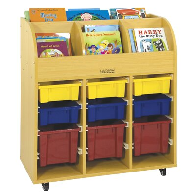 ECR4kids Book Trolley with 9 Trays
