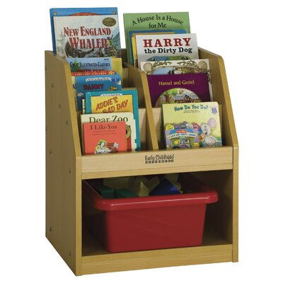 ECR4kids One Sided Book Storage with Reading Sectional