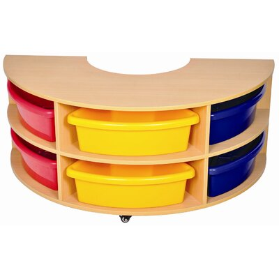 ECR4kids Low Round Storage Center with 6 Trays