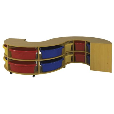 ECR4kids Two Piece Curved Low Storage Center