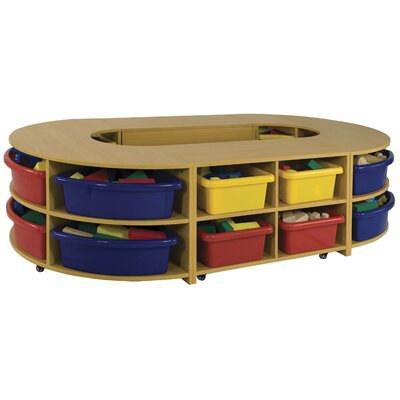 "ECR4kids 21.5"" Four Piece Hollow Low Storage Island"
