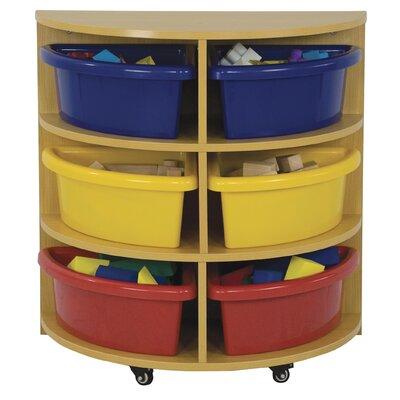 ECR4kids Half Circle High Storage Centre 6 Compartment Cubby
