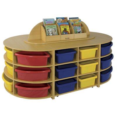 ECR4kids Five Piece High Storage Island