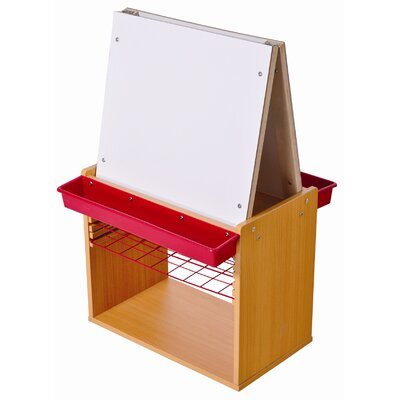 ECR4kids Mobile 2-Station Easel with Dry Rack